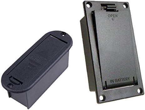 Caja Batería Titulares 9V + Casos de Baterías Guitarras Bass: Amazon.es: Instrumentos musicales