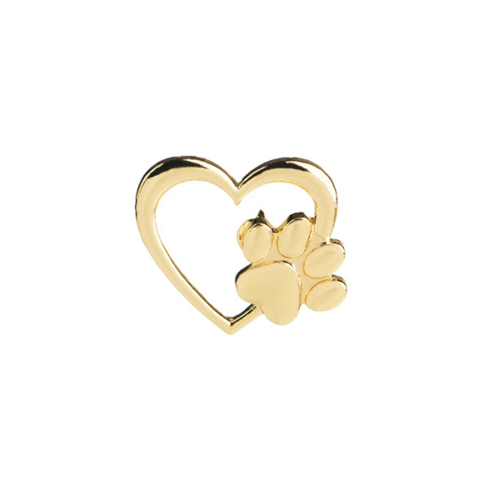 Finance Plan Fashion Love Heart Paw Brooch Pin Scarf Sweater Dress Unisex Decor Gift Golden