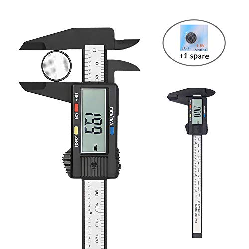 Digital Vernier Caliper,Electronic Ruler Measuring Tool 0-6 Inch/150 mm,Inch/Metric Conversion with Large LCD Screen, by Afiken