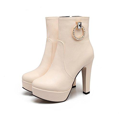 KHSKX-Koreanische Winter Kurzen Rohr Martin Stiefel Fashionista Schuhe Mit Mit Schuhe Dicken Hochhackige Schuhe Stiefel Zichao Beige 27eb33