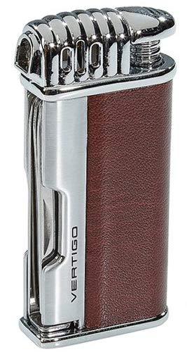 Brown Lotus Vertigo Puffer Angled Flame Pipe Lighter w/Tamper Scraper Spike