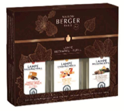 Maison Berger/ Lampe Berger Autumn Trio Pack Includes Pumpkin Delight, Dried Fruits & by The Fireside Each in 6.08 Ounce