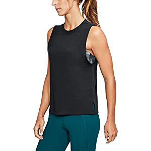 Under Armour Womens Muscle Tank, Black/Stealth Gray, Small