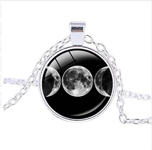 Triple Moon Witches Necklace, Goddess Witchcraft Vintage Pendant Necklace Jewelry (Goddess Jewelry Pendant)