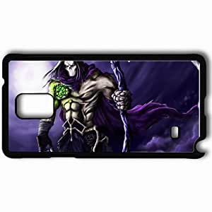 Personalized Samsung Note 4 Cell phone Case/Cover Skin Art Monster Braid Weapon Moon Night Black