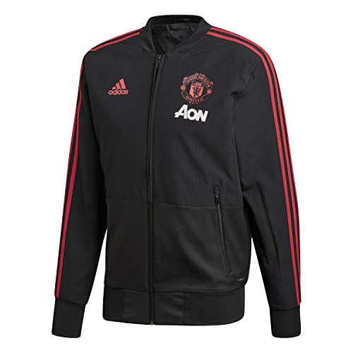 adidas 2018-2019 Man Utd Presentation Jacket (Black)