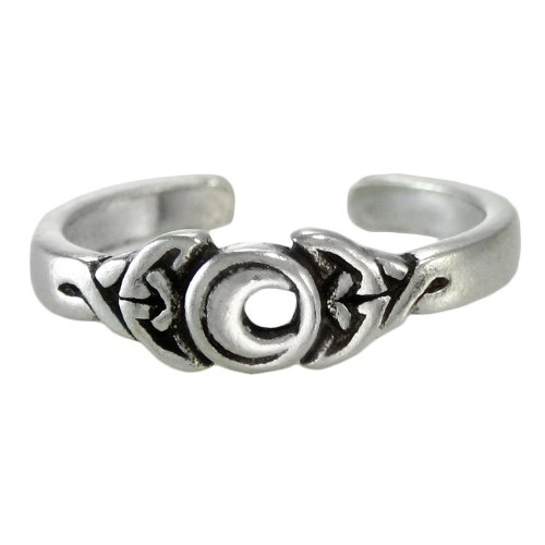 Sterling Silver Crescent Moon Toe or Pinky Ring Goddess Body ()