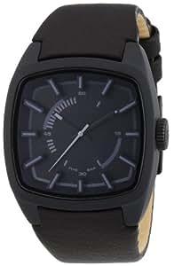 Diesel DZ1529 - Reloj analógico de cuarzo para hombre con correa de piel, color negro
