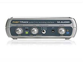 M-audio Fast Track Guitar Mic Usb External Soundcard Audio Interface Musical Instruments & Gear Fast Del Latest Technology Pro Audio Equipment