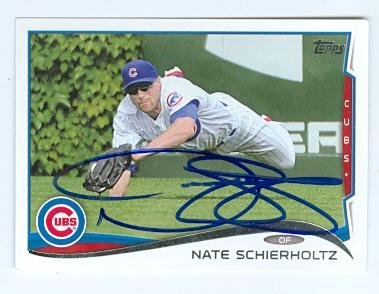 Nate Schierholtz autographed baseball card (Chicago Cubs) 2014 Topps No.59