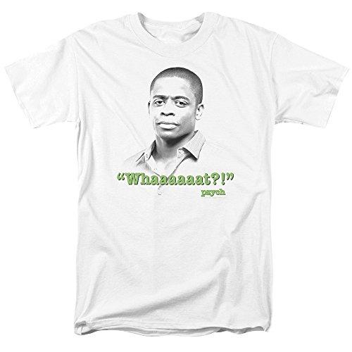 Trevco Men's Psych Short Sleeve T-Shirt, Whaaaaaat White, Small