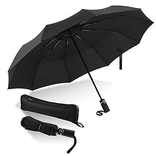 VAN BEEKEN Umbrella Windproof I Wind Resistant Travel Umbrella with Teflon I Light Compact Umbrella I Mini Umbrella Portable Folding Umbrella for Men Women Blue