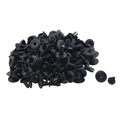 Car Fender Fastener - TOOGOO(R) 100 Pcs Car Fender Push Type Black Plastic Rivets Fastener 6mm Hole by TOOGOO(R) (Image #4)