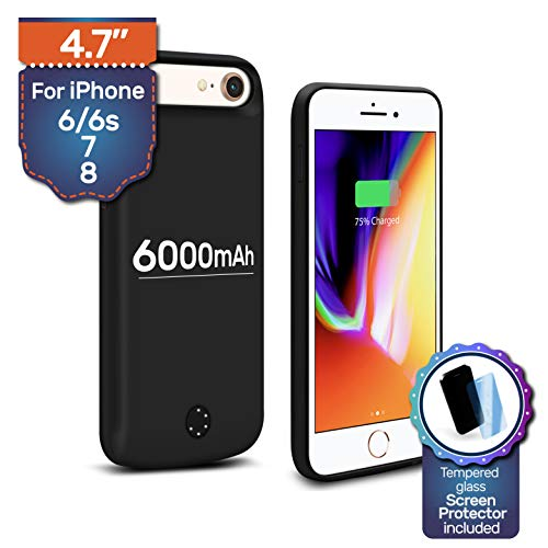 NRO [Upgraded] Battery Case for iPhone 6 6s 7 8 (4 7