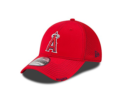 fan products of MLB Los Angeles Angels Neo Fitted Baseball Cap, Scarlet, Medium/Large