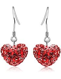 Ball Earrings Fashion Pearl Zircon Simple 925 silver Dangle Earrings Shiny Earrings