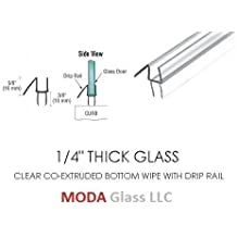 "1/4"" Frameless Glass Shower Door Sweep - Bottom Seal - Wipe - Drip Rail - 32"" - FREE SHIPPING - We Ship Within 24 Hours"