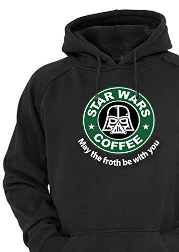 Starbucks Star Wars Handemade Unisex Pullover Hoodie Oversized Outfit (Black, Medium) ()