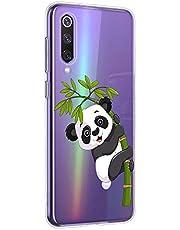 Oihxse Cristal Compatible con Motorola Moto G7 Funda Ultra-Delgado Silicona TPU Suave Protector Estuche Creativa Patrón Panda Protector Anti-Choque Carcasa Cover(Panda A3)