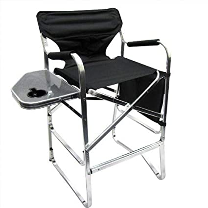 Charmant Professional EZ Travel Collection Deluxe Tall Folding Directors Chair  Foldable Chair With Side Table And Cup