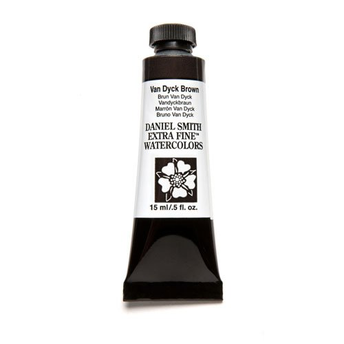(DANIEL SMITH Extra Fine Watercolor 15ml Paint Tube, Van Dyke Brown )
