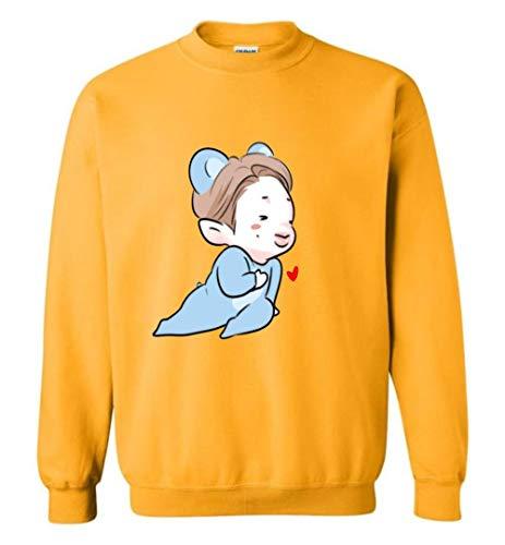 The Incredible BTS RM in Koya Costume Sweatshirt Sweater RM Jin Suga J-Hope Jimin V Jungkook Gold