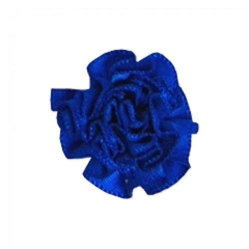 Berisford Ribbon Ruched Rosettes 352 Electric Blue - per pack of 6