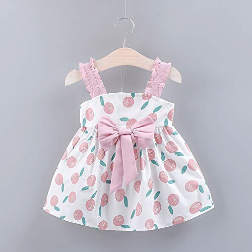 (genbz Girls'Little Dot Printed Skirt Summer 2019 Children's A-Shaped Skirt New Butterfly Knot Lace)
