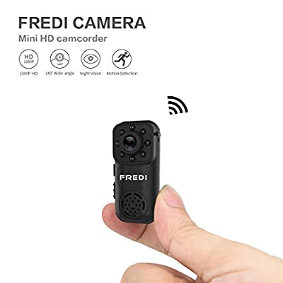 Hidden Camera, FREDI 1080P HD Mini Portable Spy Indoor WiFi Security IP Camera with Motion Detection(support 128G SD card) by Jinbaixun Technology