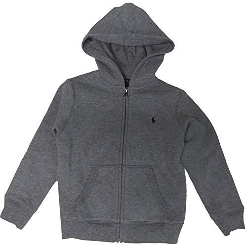 Polo Ralph Lauren Boys Sweater Hoodie, 2T, Grey Heater
