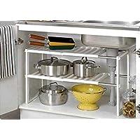 FiNeWaY nuevo bajo fregadero cocina rack Organizador ajustable