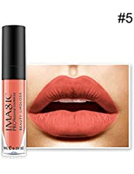 Moisturizing Lip Gloss, IMAGIC Matte lipstick Rare Lip Paint Waterproof Strawberry Long Lasting Nude Lip Balm #5