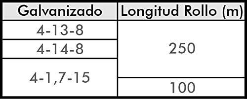 Alambre 1.7mm 250 m Puas a 15cm Alambre de Espino