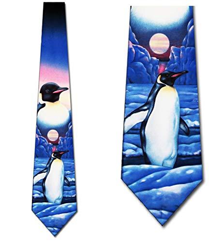 Fun Necktie - Penguin Ties Mens Necktie Tie by Three Rooker