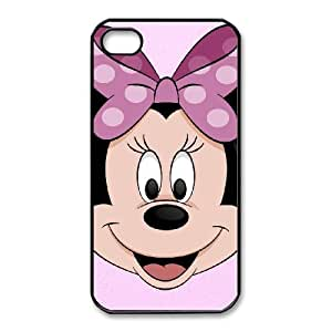 Durable Rubber Csaes iPhone 4,4S Black Cell Phone Case Minnie Mouse Lyhvd Special Design Cover