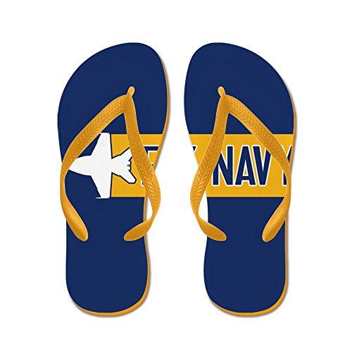 Cafepress Oss Marin: Fly Navy (f-18) - Flip Flops, Roliga Rem Sandaler, Strandsandaler