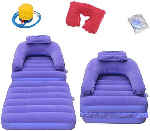 エアーソファー、エアーベッド1人用ソファー群がったエアーラウンジャー室内休憩家庭用 (Color : Purple, Size : 85X75X78CM)