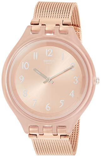 Swatch Skinchic SVUP100M Rose-Gold Stainless-Steel Swiss Quartz Fashion Watch (Resistant Water Watch Swatch)