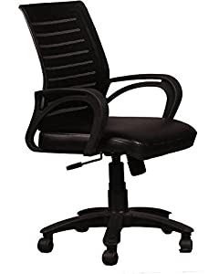 SEAT CHACHA Boom Mesh Back Series (Black Leatheritte Seat With Nylon Base )