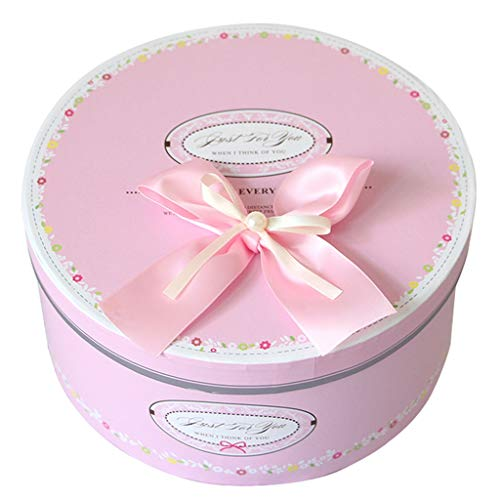 Pink Round Gift Box with Lid Suitable for
