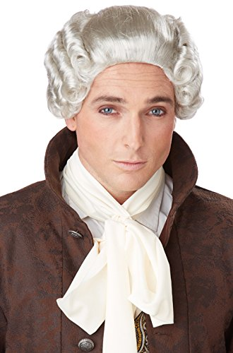 Baroque Wig (California Costumes Men's 18Th Century Peruke Wig, Grey, One Size)