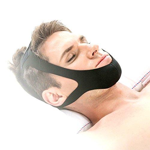 Large Adjustable Stop Snoring Chin Strap (Black)