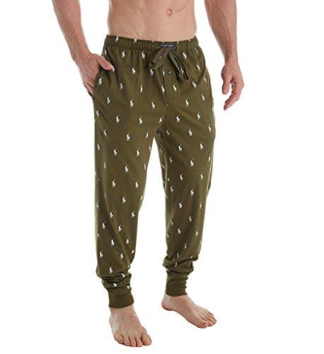 Ralph Lauren Mens Pajamas - Polo Ralph Lauren Pony Player Print Jogger Pant (PK08SR) L/New Olive/Nevis