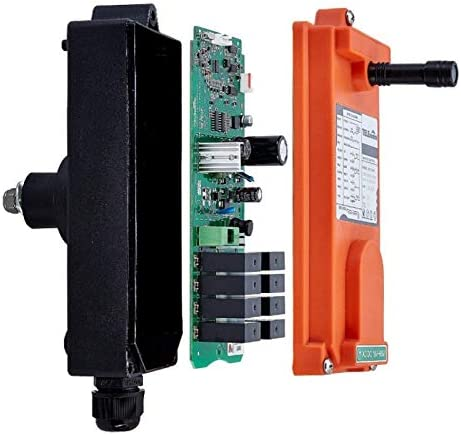 Color: 18to65V VHF310to331 Calvas Telecontrol F21-4D industrial radio remote control AC//DC universal wireless control for crane 1transmitter and 1receiver