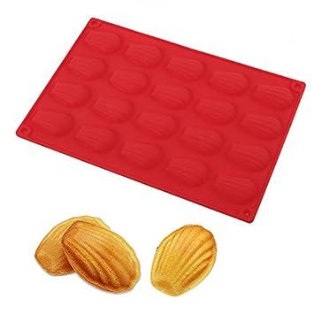 Repostería para molde para galletas (silicona Madeleine Pan para caseras Madeleine Cookies, Chocolate, Candy, y más: Amazon.es: Hogar