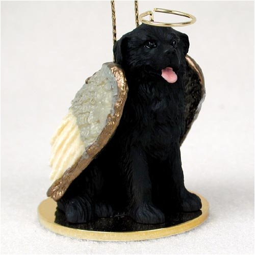 Newfoundland Angel Dog Ornament (Black Angel Dog Ornament)