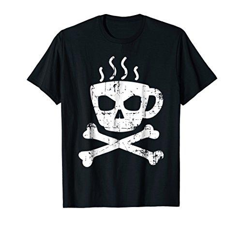 Price comparison product image Vintage retro Coffee Mug Skull designer T-Shirt