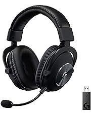 Logitech G Pro X 7.1 Oyuncu Kulaklığı, Blue Voice Mikrofon Teknolojisi, 50 mm Hassas PRO-G Sürücüleri, DTS Kulaklık:X 2.0 Surround Ses, Profesyonel Tip USB Dijital Ses Kartı, 20 Saat Pil Ömrü, Siyah