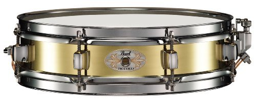 Pearl B1330 Piccolo Snare, 13-inchx3-inch, Brass by Pearl