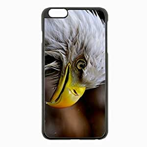 iPhone 6 Plus Black Hardshell Case 5.5inch - bald bird Desin Images Protector Back Cover